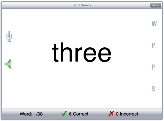 Learning Sight Words Screenshot